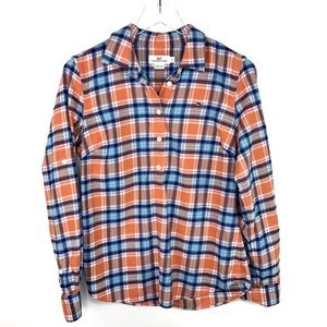 Vineyard Vines Flannel Plaid Popover Orange Blue 6